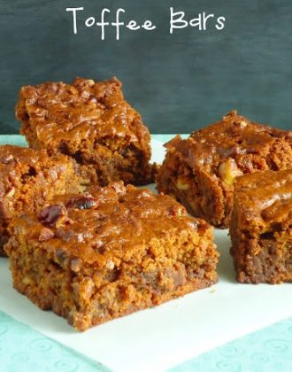 Chewy toffee bars via blahnik baker