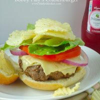 Bobby Flay's Crunch Burger {Pass the Cook Book Club}