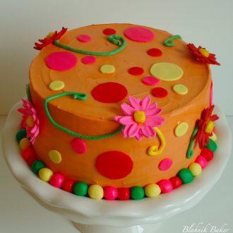 Orange birthday cake - Birthday cakes are fun to make when there's only one birthday to celebrate, but two birthdays, and two birthday cakes, are even more fun to celebrate!