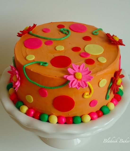 Orange birthday cake - Birthday cakes are fun to make when there's only one birthday to celebrate, but two birthdays, and two birthday cakes, are even more fun to celebrate!