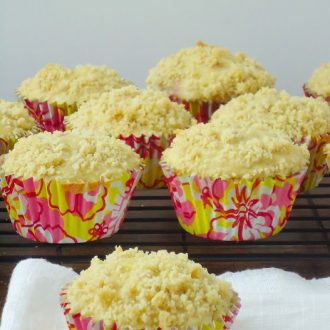 Raspberry lemonade muffins