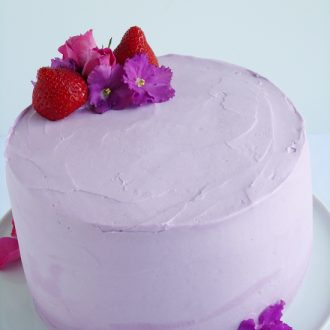 Strawberry lavender cake