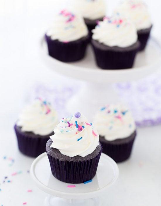 Purple Velvet Cupcakes Using Cake Mix