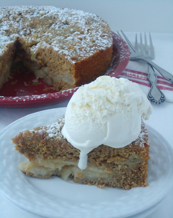 Brown Butter Ginger Apple Torte