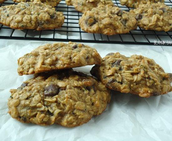 coconut zucchini chocolate cookies