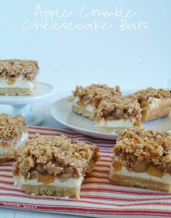 apple crumble cheesecake bars