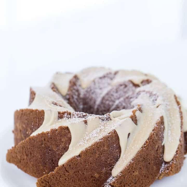 Applesauce Cake with Caramel Glaze