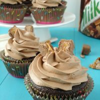 Chocolate Milky Way Cupcakes