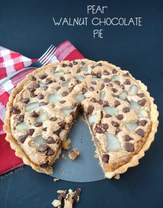 Pear Walnut Chocolate Pie
