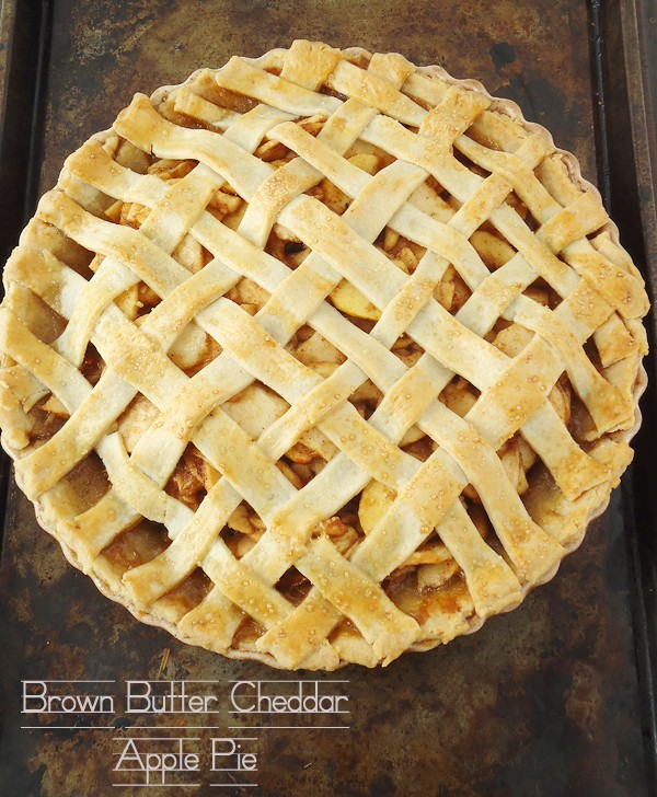 Brown Butter Cheddar Apple Pie