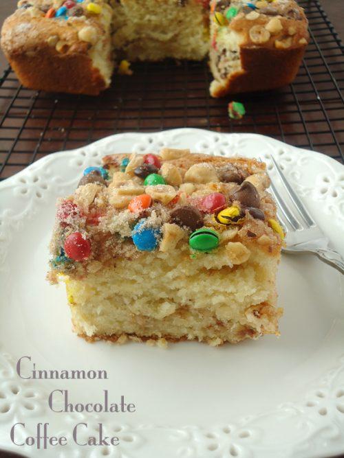 Cinnamon chocolate coffee cake