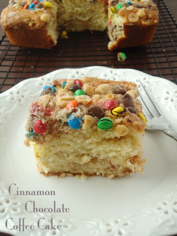 Cinnamon chocolate coffee cake recipe #shop | BlahnikBaker.com