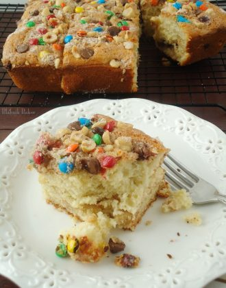 Cinnamon chocolate coffee cake recipe #shop | BlahnikBaker.com