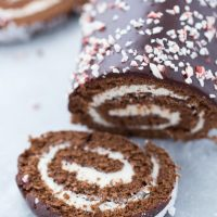 Peppermint Chocolate Roll Cake