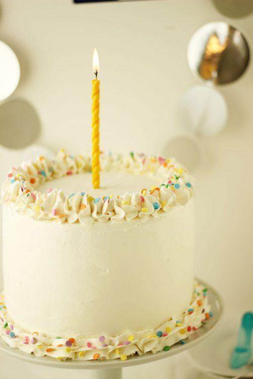 Cherry Vanilla Champagne Cake