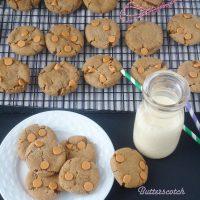 Butterscotch Gingersnap Molasses Cookies