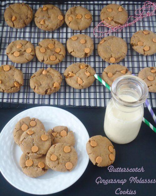 Butterscotch Gingersnap Molasses Cookies | BlahnikBaker.com