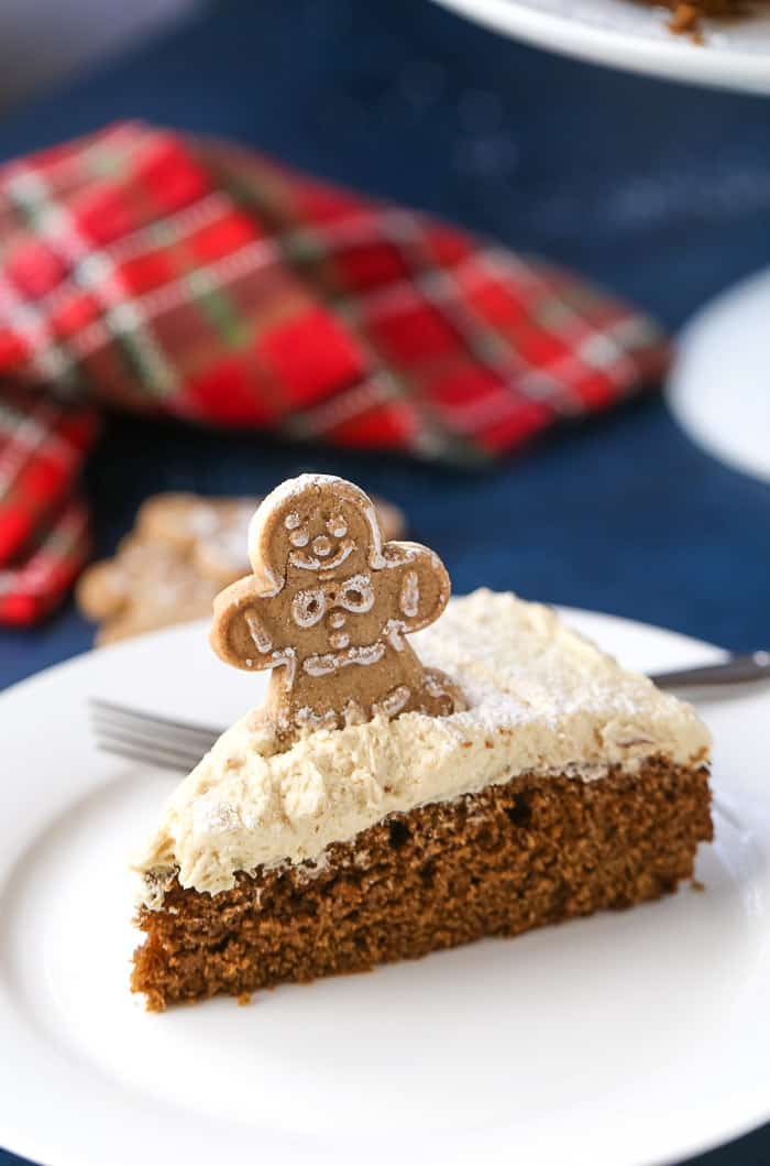 Gingerbread Cake with Molasses Buttercream Frosting