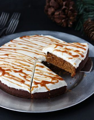 Gingerbread Cake with Molasses Buttercream