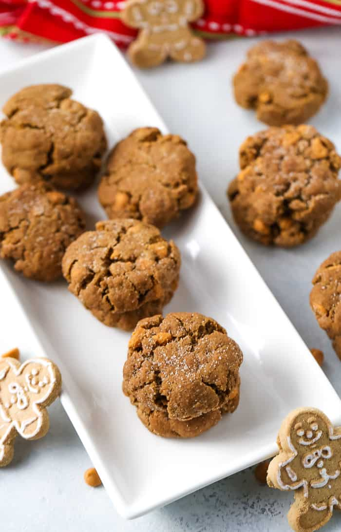 Butterscotch Gingersnap Molasses Cookies