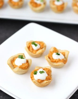 Buffalo Chicken Dip Bites