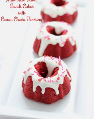 Mini Red Velvet Bundts with Cream Cheese Frosting