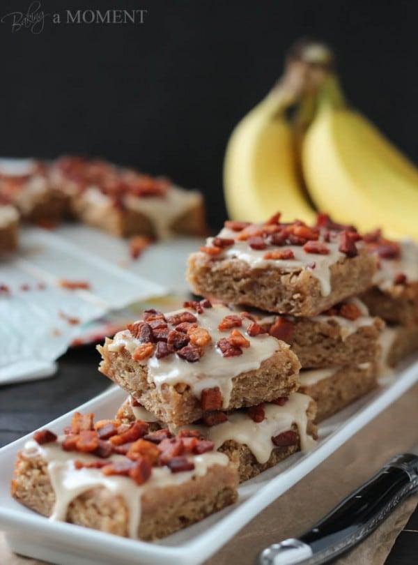 Peanut Butter Banana Blondies