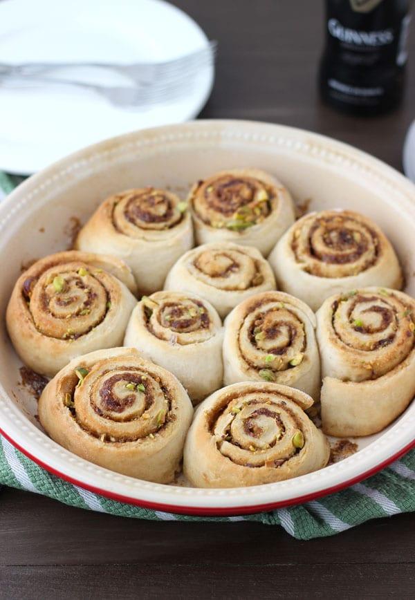 Guinness Pistachios Sweet Rolls