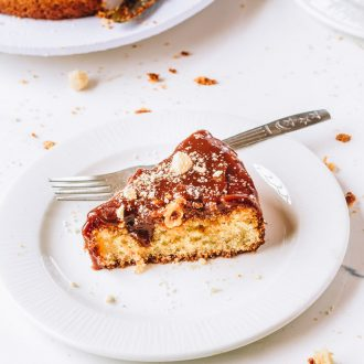 Hazelnut Cake with Salted Caramel Sauce
