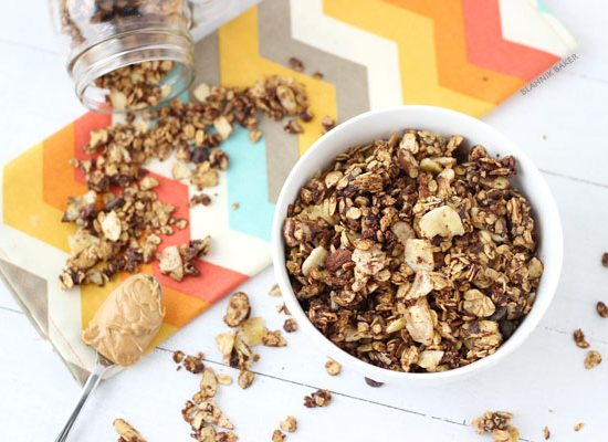 peanut butter chocolate banana chip granola