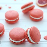 Blood Orange Walnut Macarons