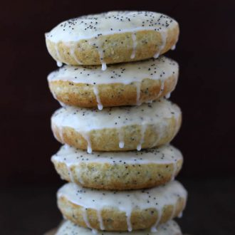 Lemon Poppyseed Baked Donuts