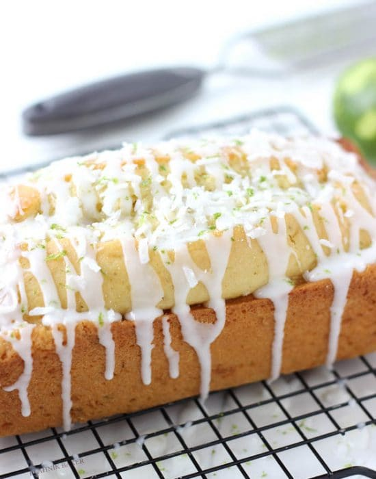 Coconut key lime bread