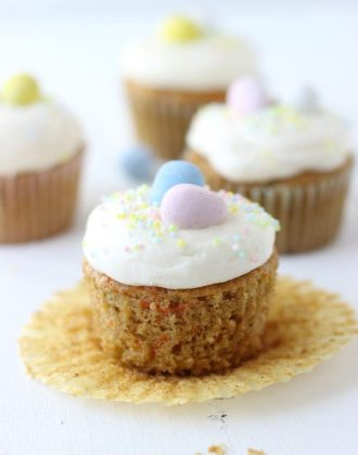 Carrot Cake Cupcakes with Mascarpone Cream Cheese Frosting