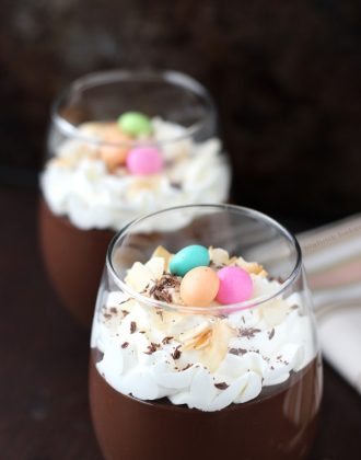 Dark Chocolate Coconut Pudding