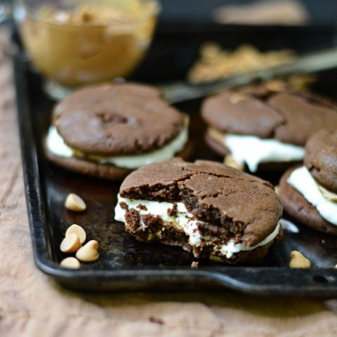 Peanut Butter Chocolate Chip Cookie S'mores