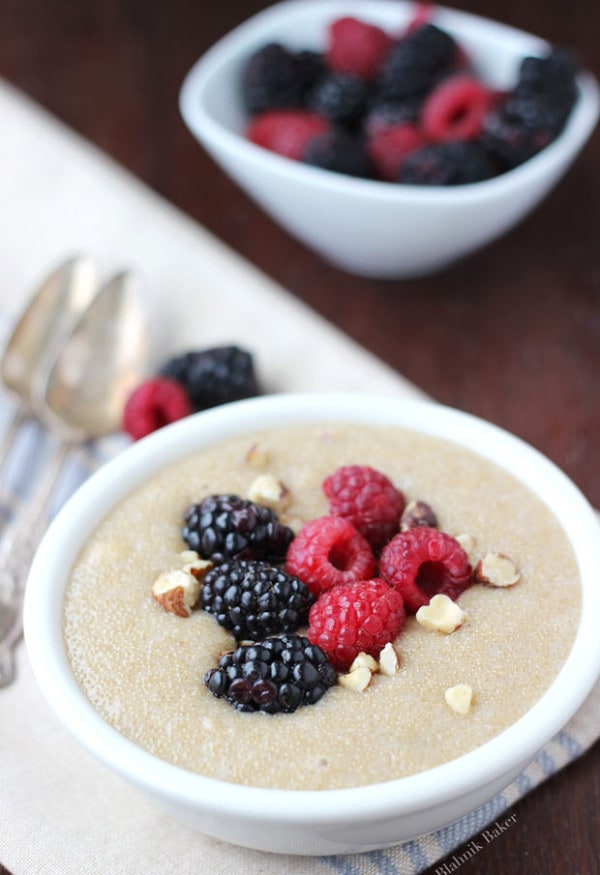 Amaranth Pudding with Hazelnuts and Berries