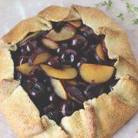 Cherry Plum Hazelnut Galette {Gluten-Free}