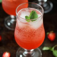 Strawberry Basil Sparkler