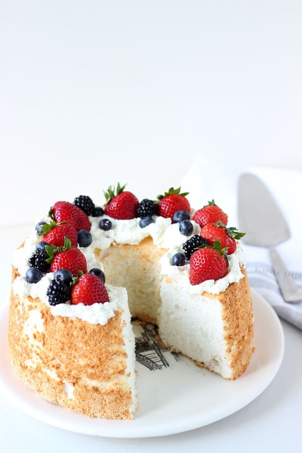 Honey Coconut Angel Food Cake