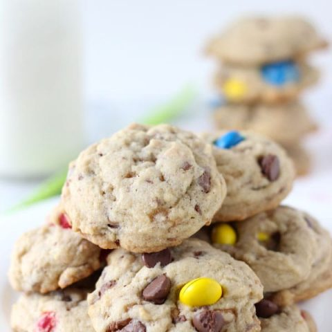 Spiced M&M Toffee Cookies