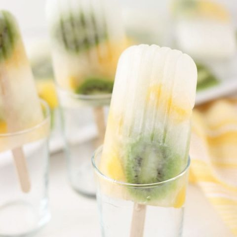 Mango kiwi lemonade popsicles