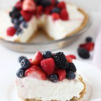 White Chocolate Cheesecake Pie