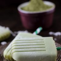 Matcha Coconut Popsicles