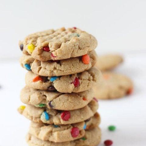 Brown Butter Peanut Butter M&M Cookies