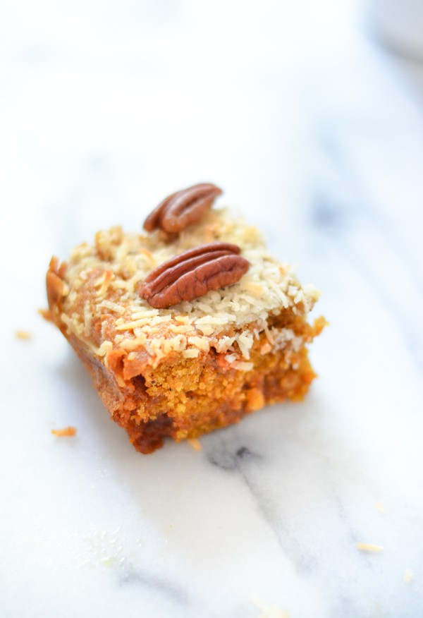 Butterscotch Pumpkin Cake Bars