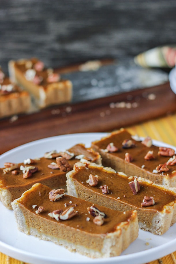 Pumpkin Maple Pecan Tart - It's going to become one of your favorite Thanksgiving desserts
