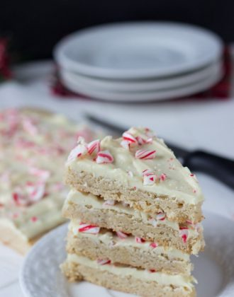 Peppermint Spiced Cookie Bark