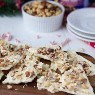 White Chocolate Peppermint Nut Bark