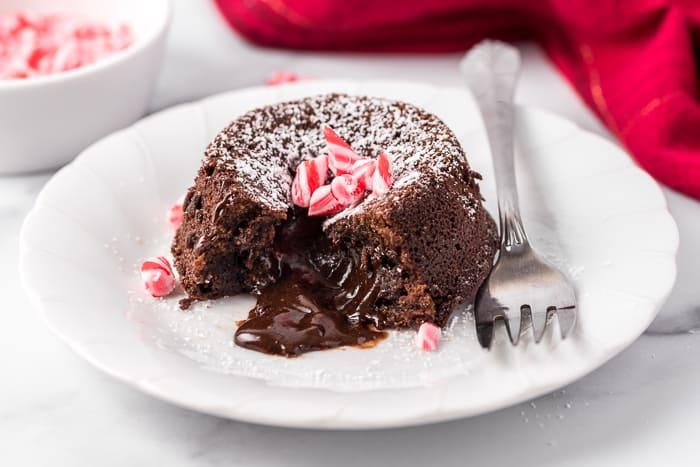 Peppermint Mocha Lava Cake